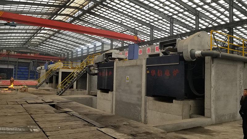 辽宁本溪2t串联中频熔化炉现场-中频炉|中频电炉|感应