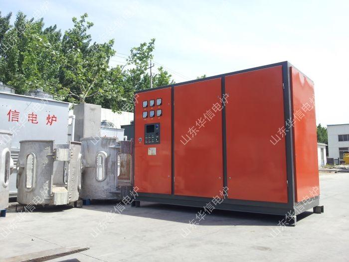 我公司为山东某客户设计制造的中频炉成套设备经过紧张的生产,调试